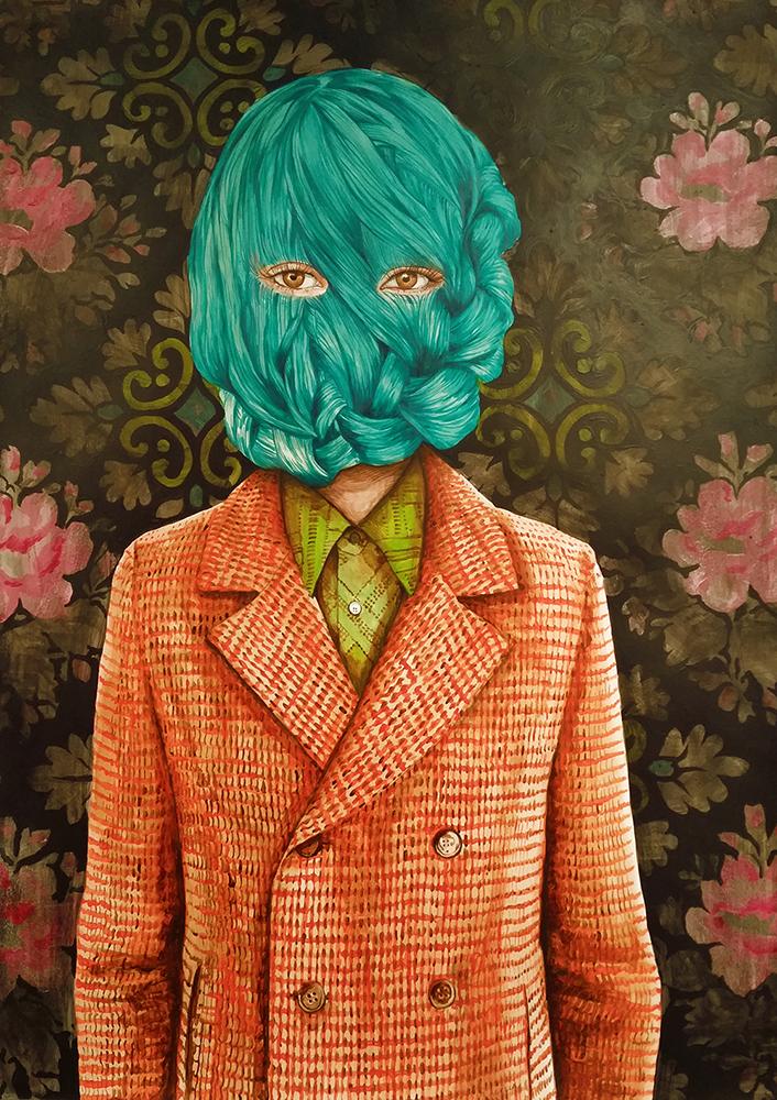 Ángeles Agrela Retrato nº 34, 2015 Arílico y lápiz sobre papel 100 x 70 cm