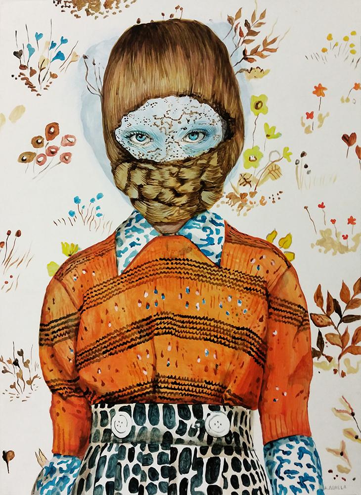 Ángeles Agrela Retrato nº 41, 2015  Acrílico y lápiz sobre papel 50 x 35 cm
