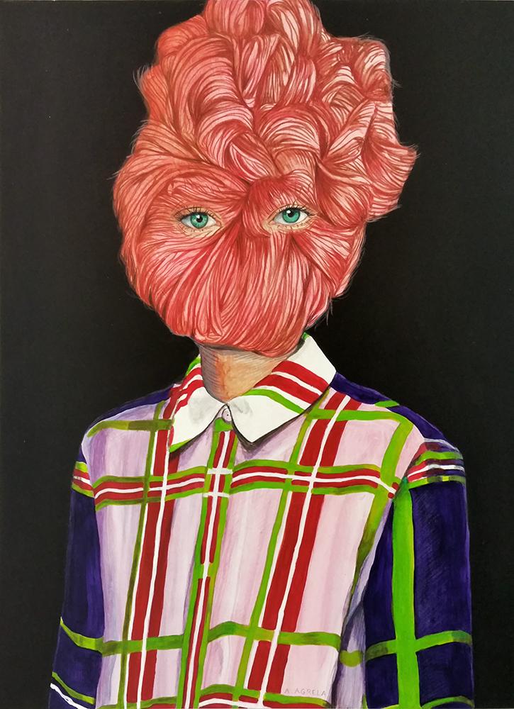 Ángeles Agrela Retrato, 2015 Acrílico y lápiz sobre papel 50 x 35 cm