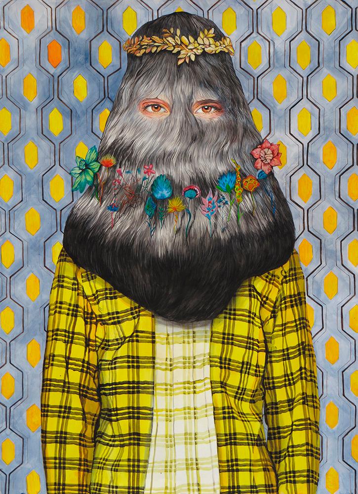 Ángeles Agrela Retrato nº79, 2015 Acrílico y lápiz sobre papel 150 x 110 cm
