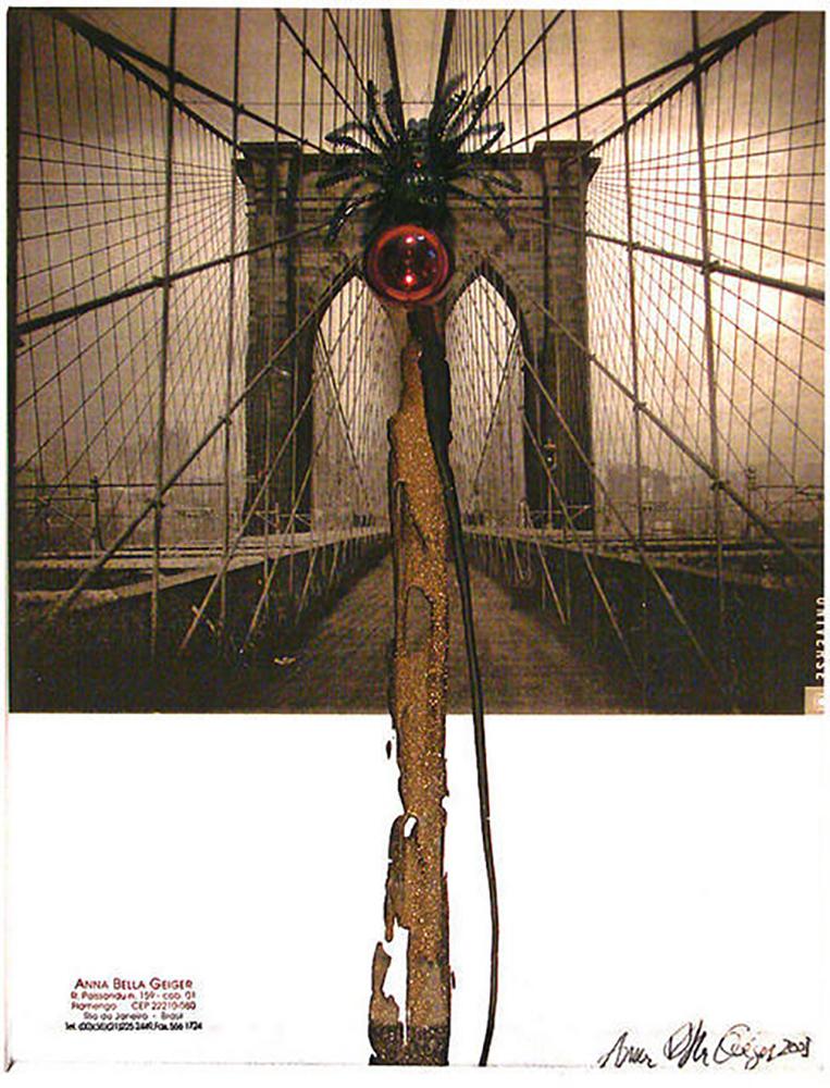 ABG_Flumenpont n.2 Universe New York 2001 fotografia encaustica limalha y esfera de vidrio 43 c 33 cm