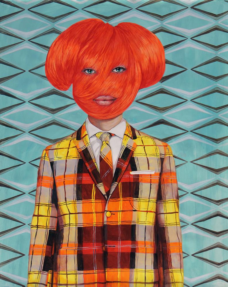 Angeles Agrela nº 54 Retrato, 2014  | Acrílico y lápiz sobre papel  | 152 x 118 cm