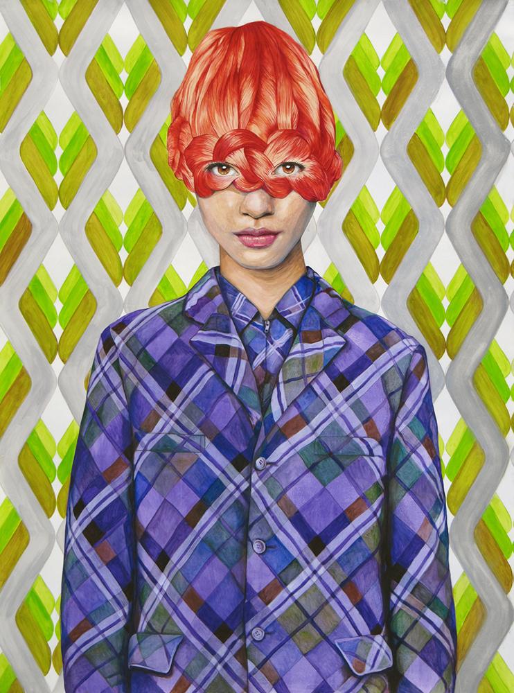 Angeles Agrela nº 56 Retrato, 2014  | Acrílico y lápiz sobre papel | 200 x 150 cm