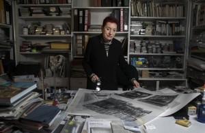 Concha Jerez en su estudio 2017