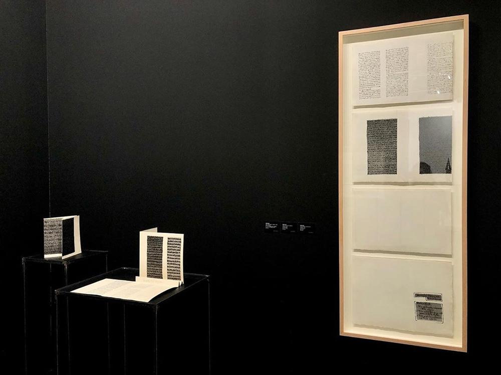 Concha Jerez_Textos censurados y autocensurados, 1976 en stand de Arco 2020