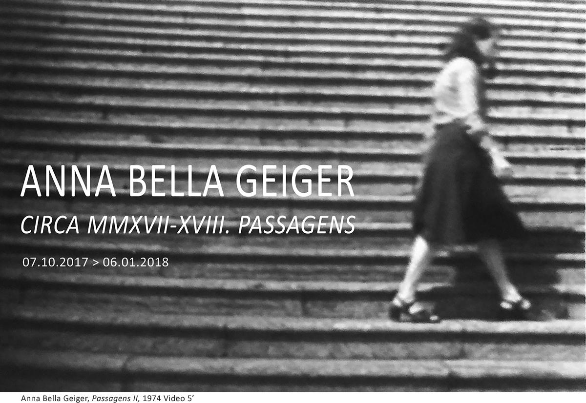 ANNA BELLA GEIGER. Circa MMXVII-XVIII. Passagens