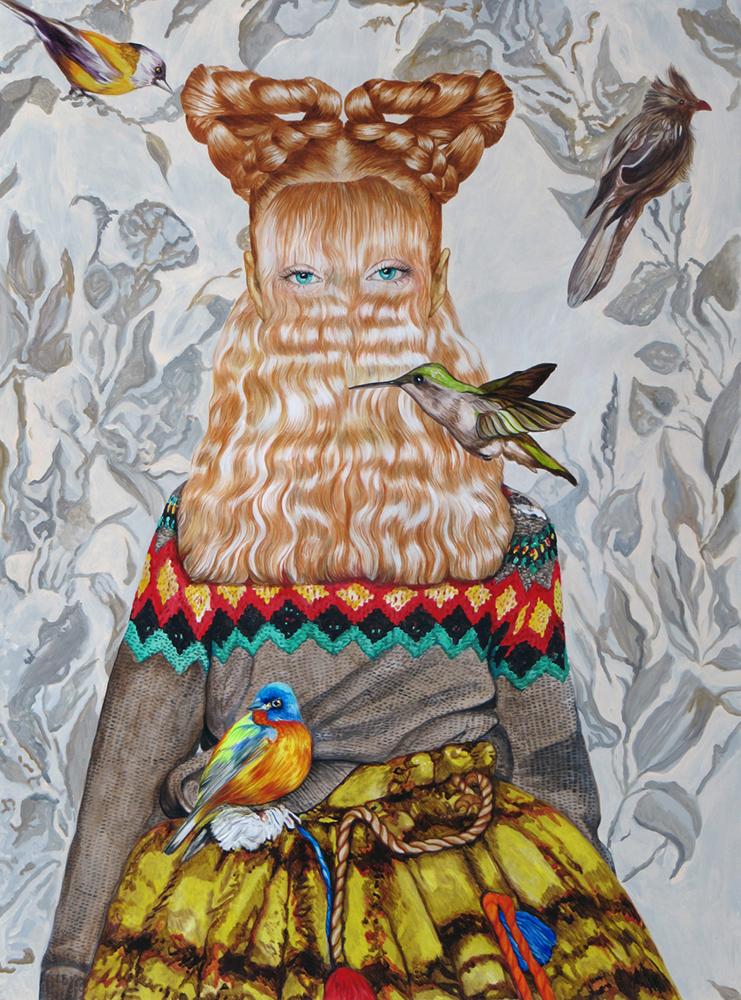 Angeles Agrela nº 71 Retrato, 2015  | Acrílico y Lápiz sobre papel | 200 x 150 cm