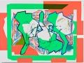 Luis Gordillo_En la alta montaña, 2012_Mixta sobre cartulina_76 x 100 cm_Marco de metacrilato. Estudio preparatorio